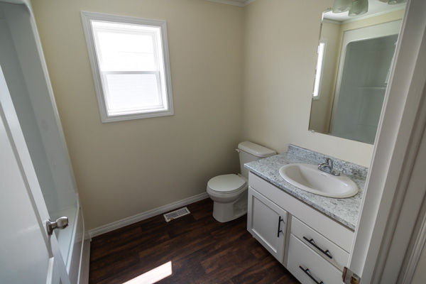 Bathroom with standard features